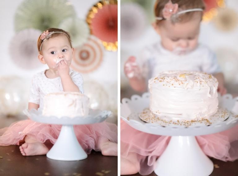 Birthday Cakes Utah ~ Jade's first birthday baby cake smash utah children's