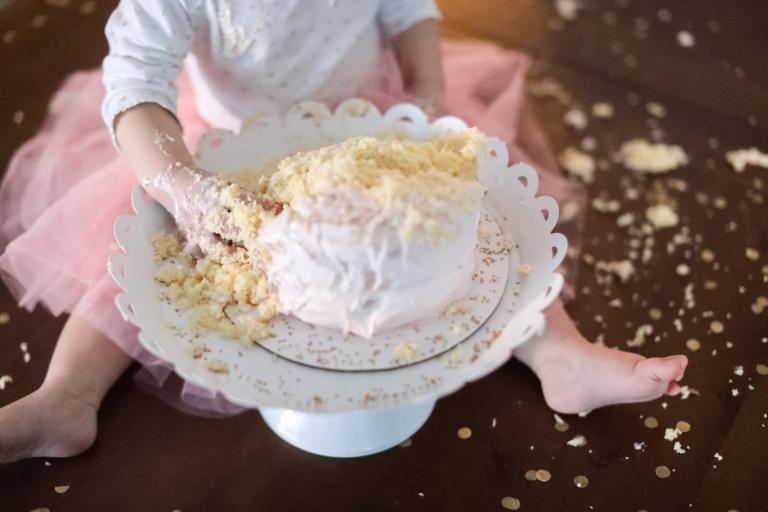Jades First Birthday Baby Cake Smash Utah Childrens
