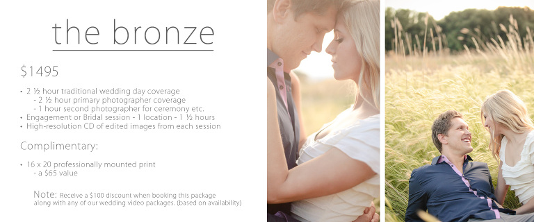 Traditional wedding prices utah bronze
