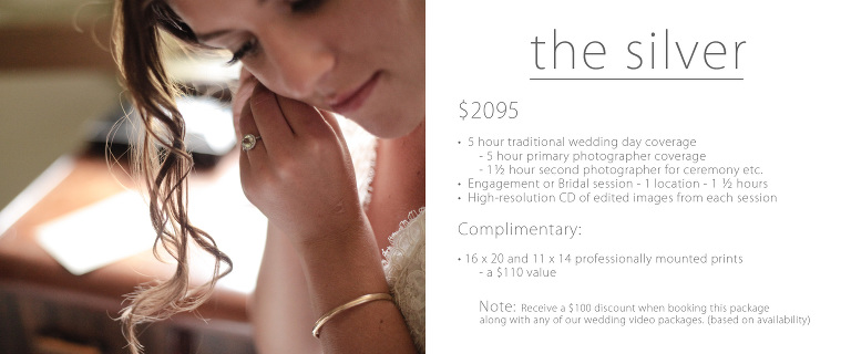 Traditional wedding prices utah silver