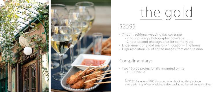 Traditional wedding prices utah gold