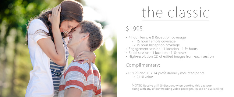 temple wedding pricing Utah photography classic