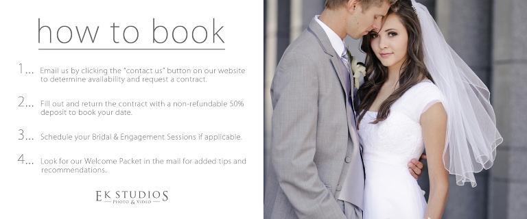temple wedding pricing Utah photo video booking