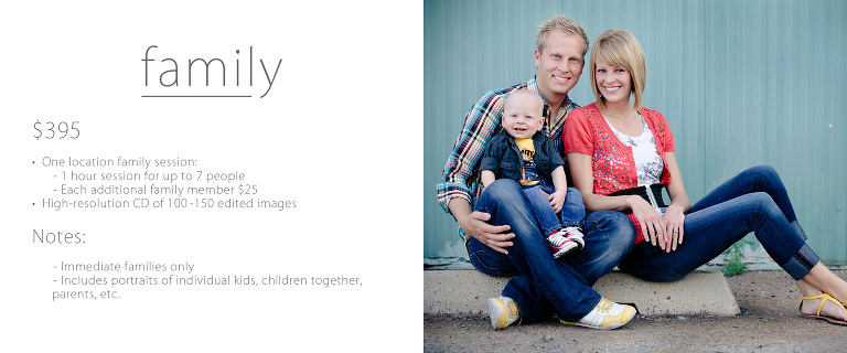 Utah portrait family photographer family pricing