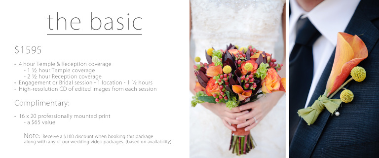 Wedding – Temple Pricing » EK Studios Photo & Video | Utah