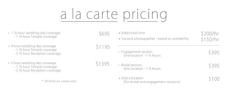 Wedding Photography Pricing.Wedding Temple Pricing Ek Studios Photo Video Utah